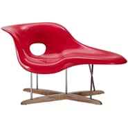 Modway Amoeba La Strong ABS Chaise, Red