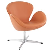 Modway Leather Wing Lounge Chair, Orange (EEI-527-ORA)