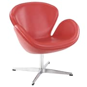 Modway Leather Wing Lounge Chair, Red (EEI-527-RED)