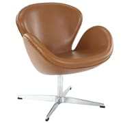 Modway Leather Wing Lounge Chair, Terracotta (EEI-527-TER)