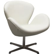 Modway Leather Wing Lounge Chair, White (EEI-527-WHI)