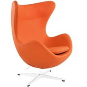 Modway Glove Aniline Leather Lounge Chair, Orange