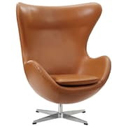 Modway Glove Aniline Leather Lounge Chair, Terracotta