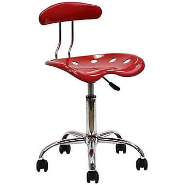 Modway Rush Acrylic Task Chair, Red