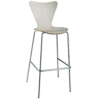 Modway Ernie Solid Plywood Bar Stool, Natural