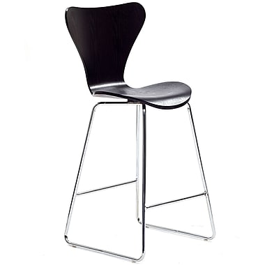 Modway Ernie Solid Plywood Bar Stool, Wenge
