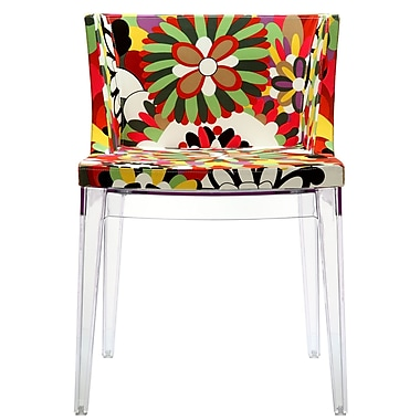Modway Flower Fabric Novelty Chair, Clear