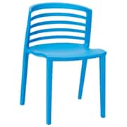 Modway Curvy 30H Molded Plastic Dining Side Chair, Blue