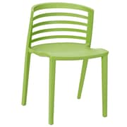 Modway Curvy 30H Molded Plastic Dining Side Chair, Green