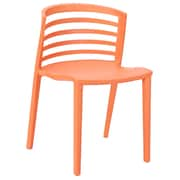 Modway Curvy 30H Molded Plastic Dining Side Chair, Orange