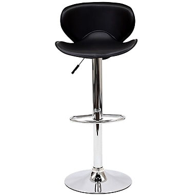 Modway Booster Leather Bar Stool, Black