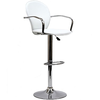 Modway Captain Vinyl Bar Stool, Black