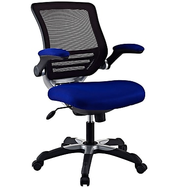 Modway Edge Mesh Fabric Mid Back Office Chair, Blue