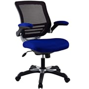 Modway EEI-594-BLU Edge Mesh Mid-Back Task Chair with Adjustable Arms, Blue