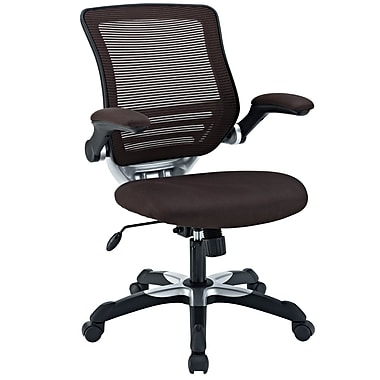 Modway Edge Mesh Fabric Mid Back Office Chair, Brown