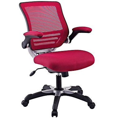 Modway Edge Mesh Fabric Mid Back Office Chair, Burgundy