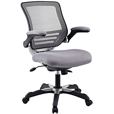 Modway Edge Mesh Fabric Mid Back Office Chair, Gray
