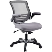 Modway Edge Mid-Back Mesh Task Chair, Adjustable Arms, Gray