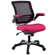 Modway Edge Mesh Fabric Mid Back Office Chair, Red