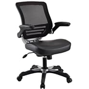 Modway Edge Leatherette Mid Back Office Chair, Black