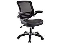 Modway EEI-595-BLK Edge Leatherette High-Back Executive Chair with Adjustable Arms, Black