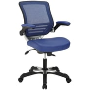 Modway Edge Leatherette Mid Back Office Chair, Blue