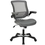 Modway Edge Leatherette Mid Back Office Chair, Gray