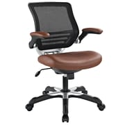 Modway Edge Leatherette Mid Back Office Chair, Tan