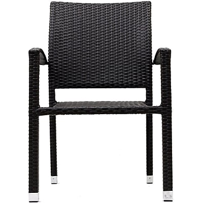"""""Modway Bella 35""""""""H Rattan Weave Outdoor Wicker Patio Dining Armchair, Espresso"""""" 512700"
