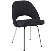 "Modway Cordelia 33""H Tweed Fabric Dining Side Chair, Black"
