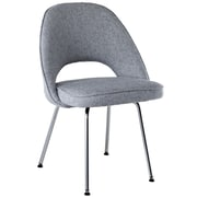 "Modway Cordelia 33""H Tweed Fabric Dining Side Chair, Light Gray"