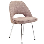 "Modway Cordelia 33""H Tweed Fabric Dining Side Chair, Oatmeal"