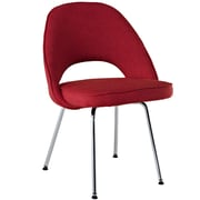 "Modway Cordelia 33""H Tweed Fabric Dining Side Chair, Red"