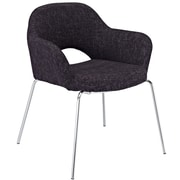 """Modway Cordelia 31""""H Tweed Fabric Dining Armchairs"""