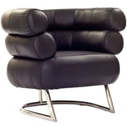 Modway Michelin Leather Armchair, Black