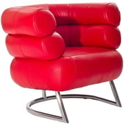 Modway Michelin Leather Armchair, Red