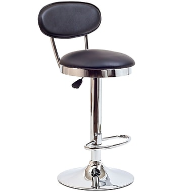 Modway Retro Vinyl Bar Stool, Black