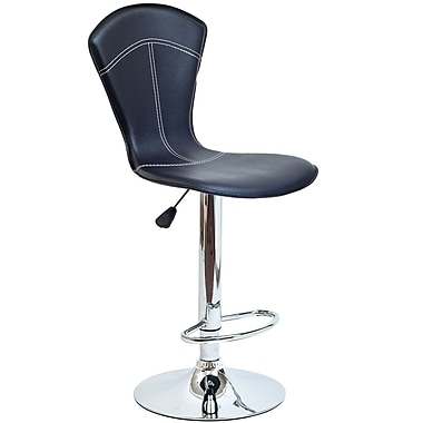 Modway Cobra Vinyl Bar Stool, Black