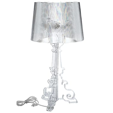 Modway French Acrylic Table Lamp, Clear