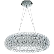 "Modway Halo 25"" Chandelier Light, Clear"