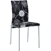 Modway Floral 28 1/2H Fabric Dining Chair, Black