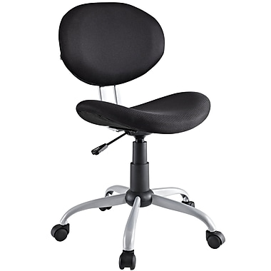 Modway Gina Padded Fabric Low Back Task Office Chair, Black