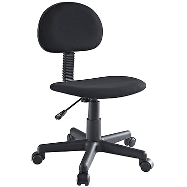 Modway Typist Padded Fabric Low Back Task Swivel Office Chair, Black