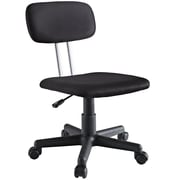 Modway Agility Padded Fabric Low Back Task Office Chair, Black