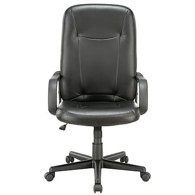 Modway Turbo Padded Vinyl High Back Office Computer Chair, Black