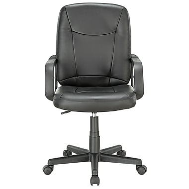 Modway Turbo Padded Vinyl Mid Back Office Computer Chair, Black