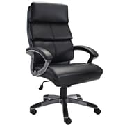 Modway EEI-718-BLK Stellar Vinyl High-Back Executive Chair with Fixed Arms, Black