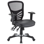 Modway EEI-755-BLK Articulate Vinyl High-Back Executive Chair with Adjustable Arms, Black