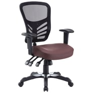 Modway Articulate Vinyl Mid Back Office Chair, Brown