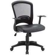 Modway Pulse Vinyl Mid Back Office Chairs